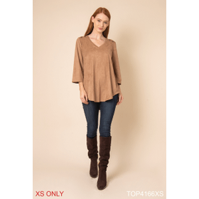 Wild Instincts All Suede Top - XS (2 pc. ppk.)