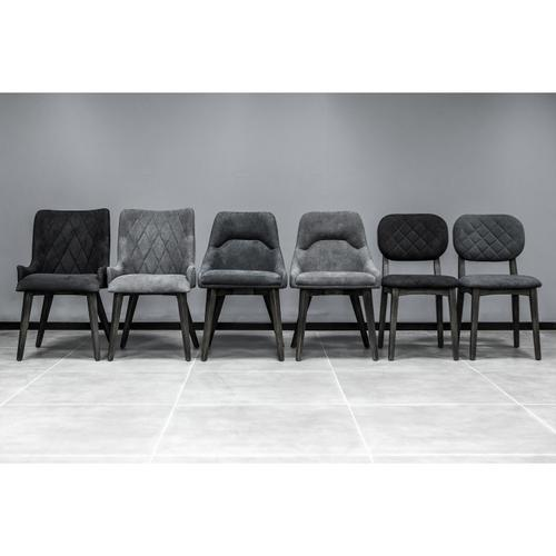 Armen Living - Lileth Charcoal Upholstered Dining Chair - Set of 2