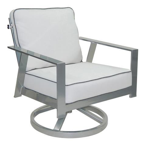 Castelle - Trento Cushioned Lounge Swivel Rocker