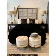 """See Details - Soft Heavy Faux Fur Loufie Blanket/Coverlet by Rug Factory Plus - Cal King - 104"""" x 93"""" / Black"""
