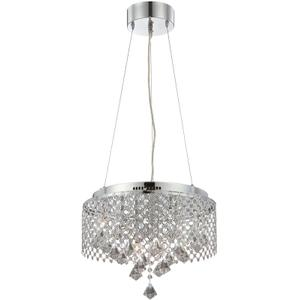 Ceiling Lamp, Chrome/glass/crystal Deco., Type Jc/g4 20wx9