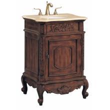 Petite Vanity Sink 1dr Brwn / Marble Top