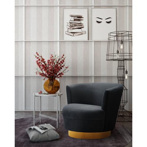 Tov Furniture - Noah Black Swivel Chair