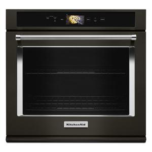 "Smart Oven+ 30"" Single Oven with Powered Attachments and PrintShield™ Finish - Black Stainless Steel with PrintShield™ Finish Product Image"