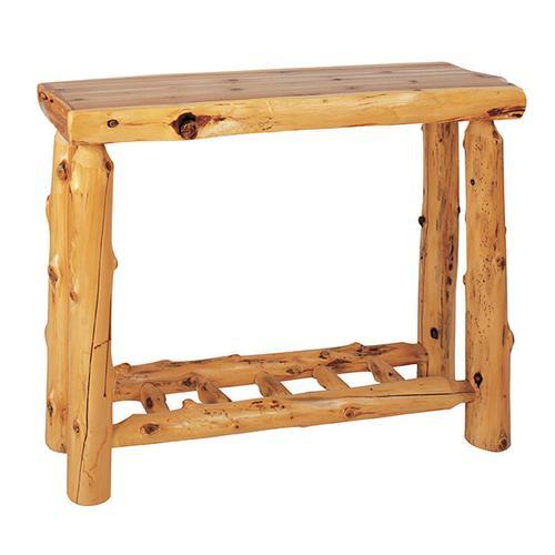 Sofa Table with Log Shelf - Natural Cedar