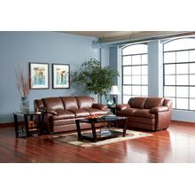 "LOVE SEAT/ BROWN FINISH 66""Lx36""Wx37""H"