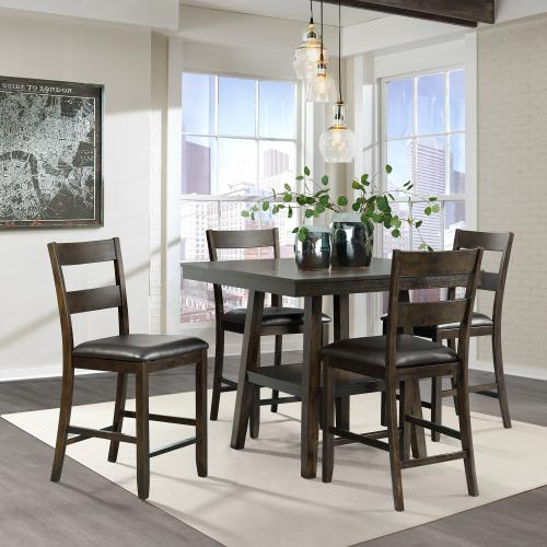 Laredo 5PC Counter Height Dining Set-Table & Four Chairs