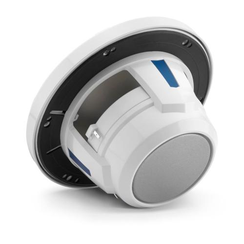 JL Audio - 6.5-inch (165 mm) Marine Coaxial Speakers, Gloss White Trim Ring, Gloss White Classic Grille