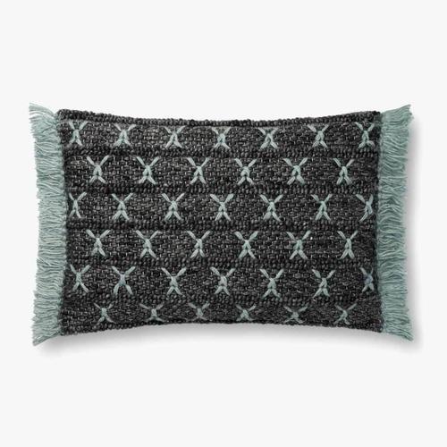 P0811 Charcoal / Blue Pillow