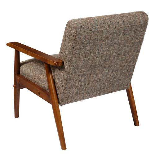 Accentrics Home - Wood Frame Accent Chair in Calypso Waterfall