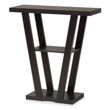 See Details - Baxton Studio Boone Modern and Contemporary Dark Brown Finished Wood Console Table