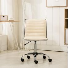 Fremo Chromel Adjustable Air Lift Office Chair in Beige