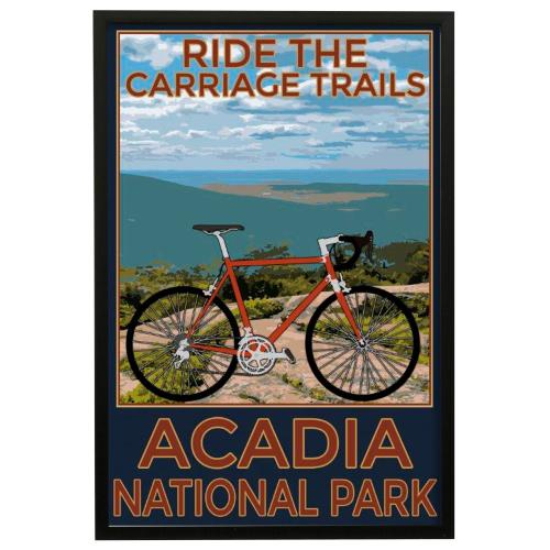 Style Craft - Arcadia Trails  Made in USA  Artist Print  Faux Wood Frame Under Glass  Attached Hanging Hardwar