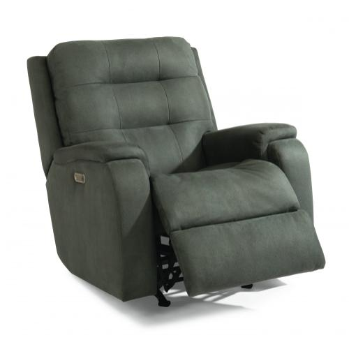Arlo Power Rocking Recliner with Power Headrest & Lumbar