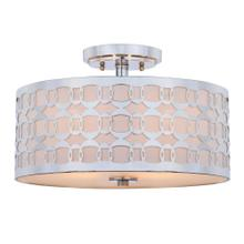 Cedar Linked 3 Light 15-inch Dia Chrome Flush Mount - Chrome
