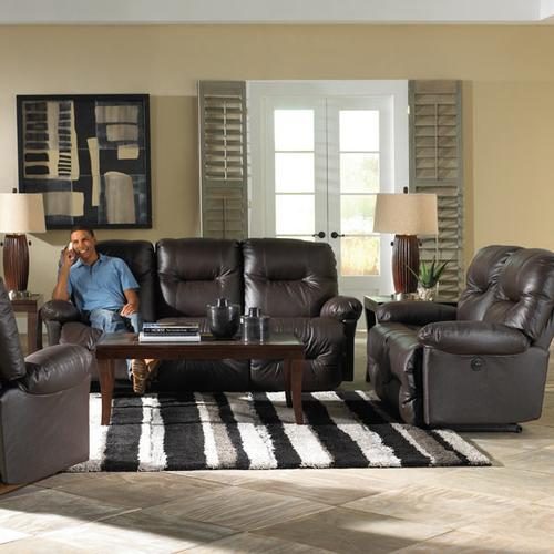 Zaynah Genuine Leather Reclining Loveseat