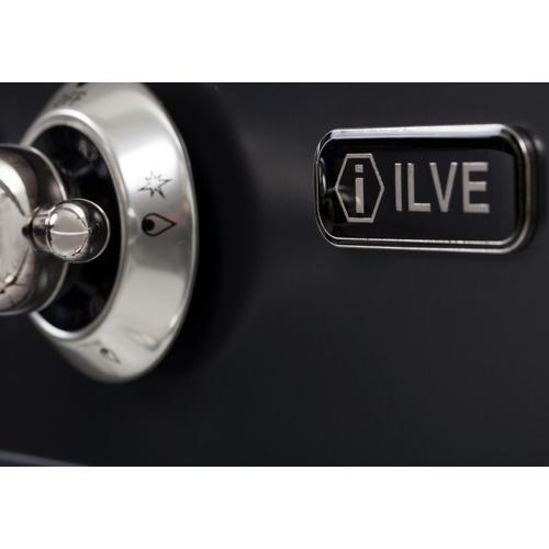 Nostalgie 48 Inch Dual Fuel Liquid Propane Freestanding Range in Matte Graphite with Chrome Trim