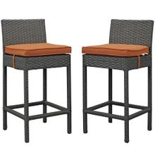 Sojourn 2 Piece Outdoor Patio Sunbrella® Pub Set in Canvas Tuscan