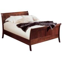 Complete Bed, King Panel Sleigh Bed
