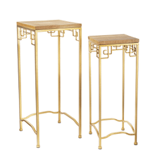 See Details - Gold Geo Nested Side Table (2 pc. set)