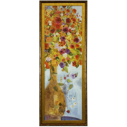 Style Craft - EXUBERANCE II  39in X 15in  Made in the USA  Textured Framed Print