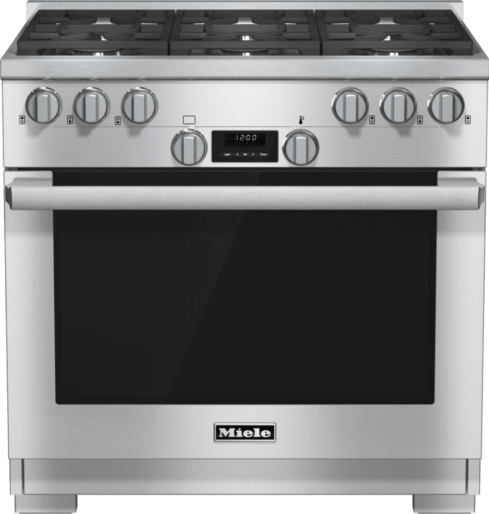 MieleHr 1134-1 Lp - 36 Inch Range All Gas With Directselect, Twin Convection Fans And M Pro Dual Stacked Burners