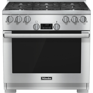 MieleHR 1134-1 G - 36 inch range All Gas with DirectSelect, Twin convection fans and M Pro dual stacked burners