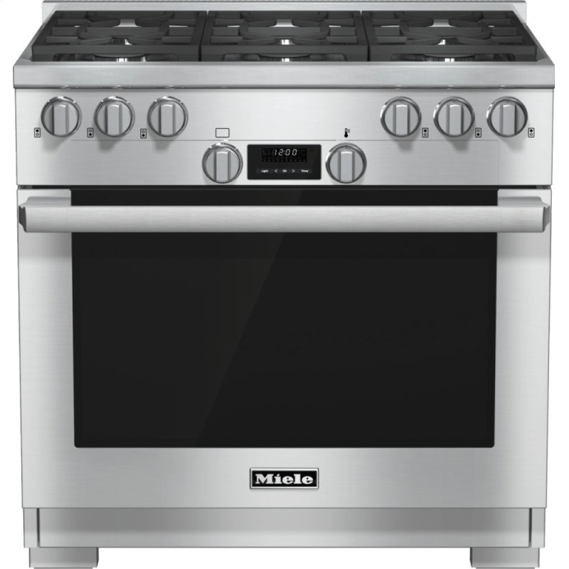HR 1134-1 LP - 36 inch range All Gas with DirectSelect, Twin convection fans and M Pro dual stacked burners