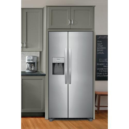 Frigidaire - Frigidaire 22.3 Cu. Ft. 33'' Standard Depth Side by Side Refrigerator