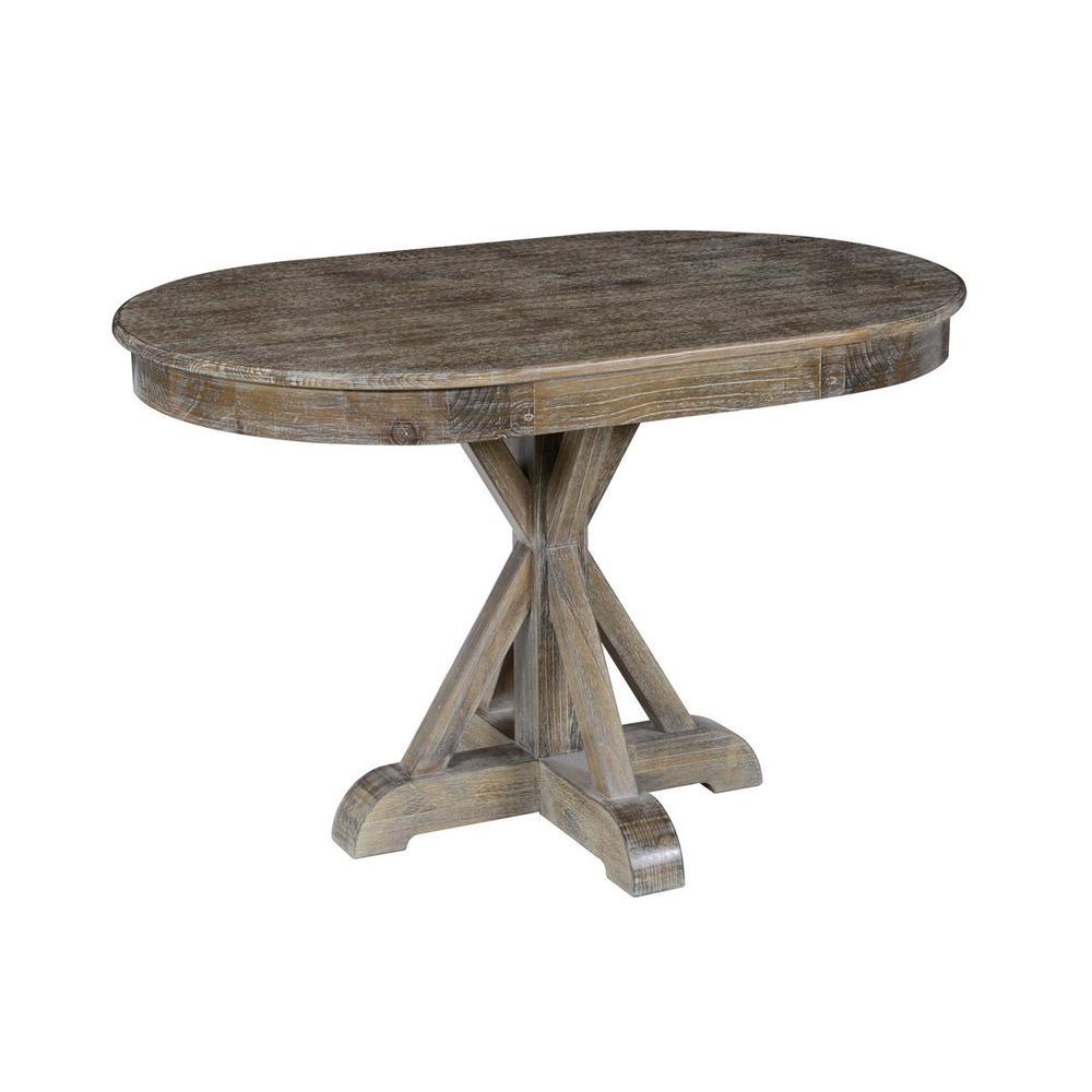 See Details - Maxwell Dining Table Lime Wash Brown