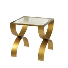 Bella Iron End Table with Glass Top
