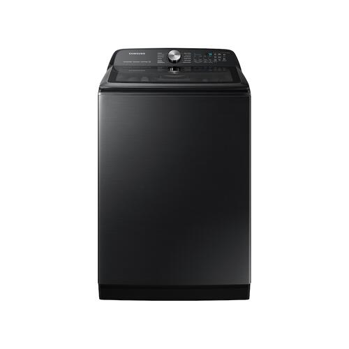 Samsung - 5.2 cu. ft. Large Capacity Smart Top Load Washer with Super Speed Wash in Brushed Black