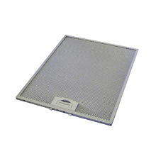 Dishwasher safe aluminum mesh filter that fits all model XOI22 hood.