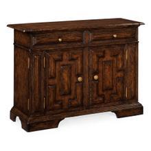 Tudor Style Dark Oak Side Cabinet