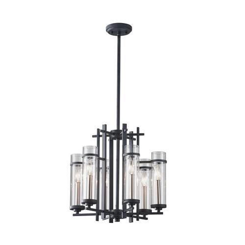 Ethan Medium Chandelier Antique Forged Iron / Brushed Steel