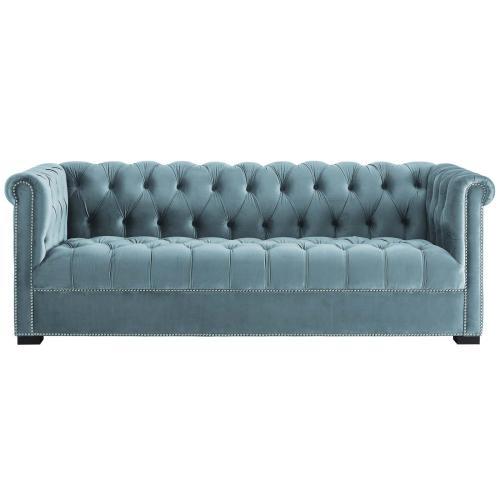 Modway - Heritage Performance Velvet Sofa in Sea Blue