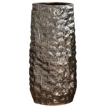 View Product - ZAIRE VASE- SMALL  Charcoal Chemical Finish on Ceramic