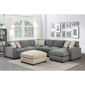 REPOSE 3PC SECTIONAL LIGHT GREY
