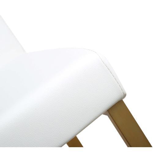 Denmark White Gold Steel Counter Stool (Set of 2)