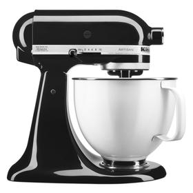 Artisan® Series Tilt-Head Stand Mixer with 5 Quart White Colorfast Finish Stainless Steel Bowl - Onyx Black