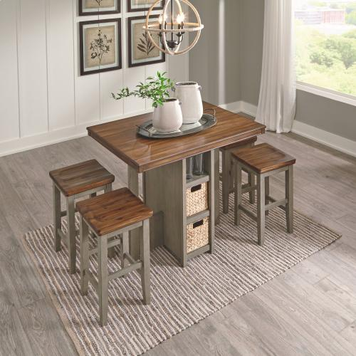 Lettner Counter Height Dining Table and Bar Stools (set of 5)