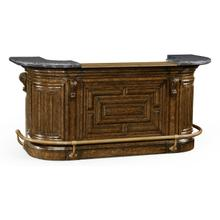 See Details - Linenfold Tudor Oak Home Bar