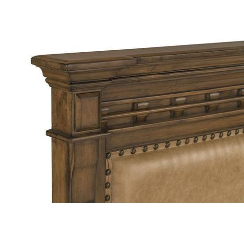 Aspen Queen Upholstered Bed, Brown