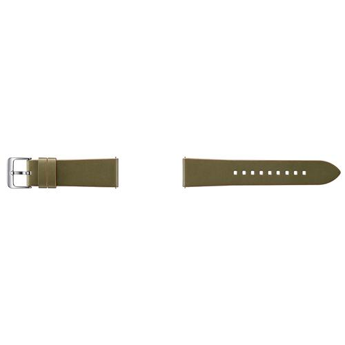 Samsung - Classic Leather Band (22mm) Olive Green