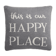 """This is Our Happy Place"" Pillow"