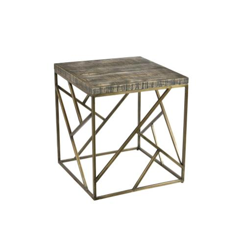 Bengal Manor Crazy Cut Iron End Table