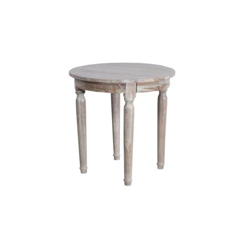 Round Lamp Table, Available in Washed Texture Finish Only.