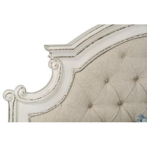 Stevenson Manor King Upholstered Bed, White