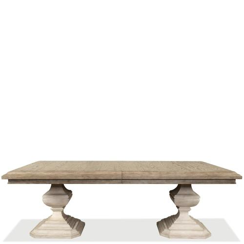 Elizabeth - Rectangular Dining Table Base - Antique Oak Finish