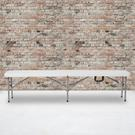 """11''W x 72""""L Bi-Fold Granite White Folding Bench with Carrying Handle Product Image"""